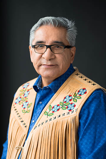 Portrait of Grand Chief Abel Bosum in a Moosehide Vest